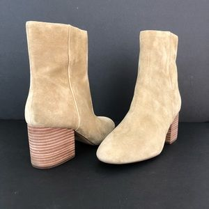J CREW Sadie Ankle Boots Size 8.5 M Suede